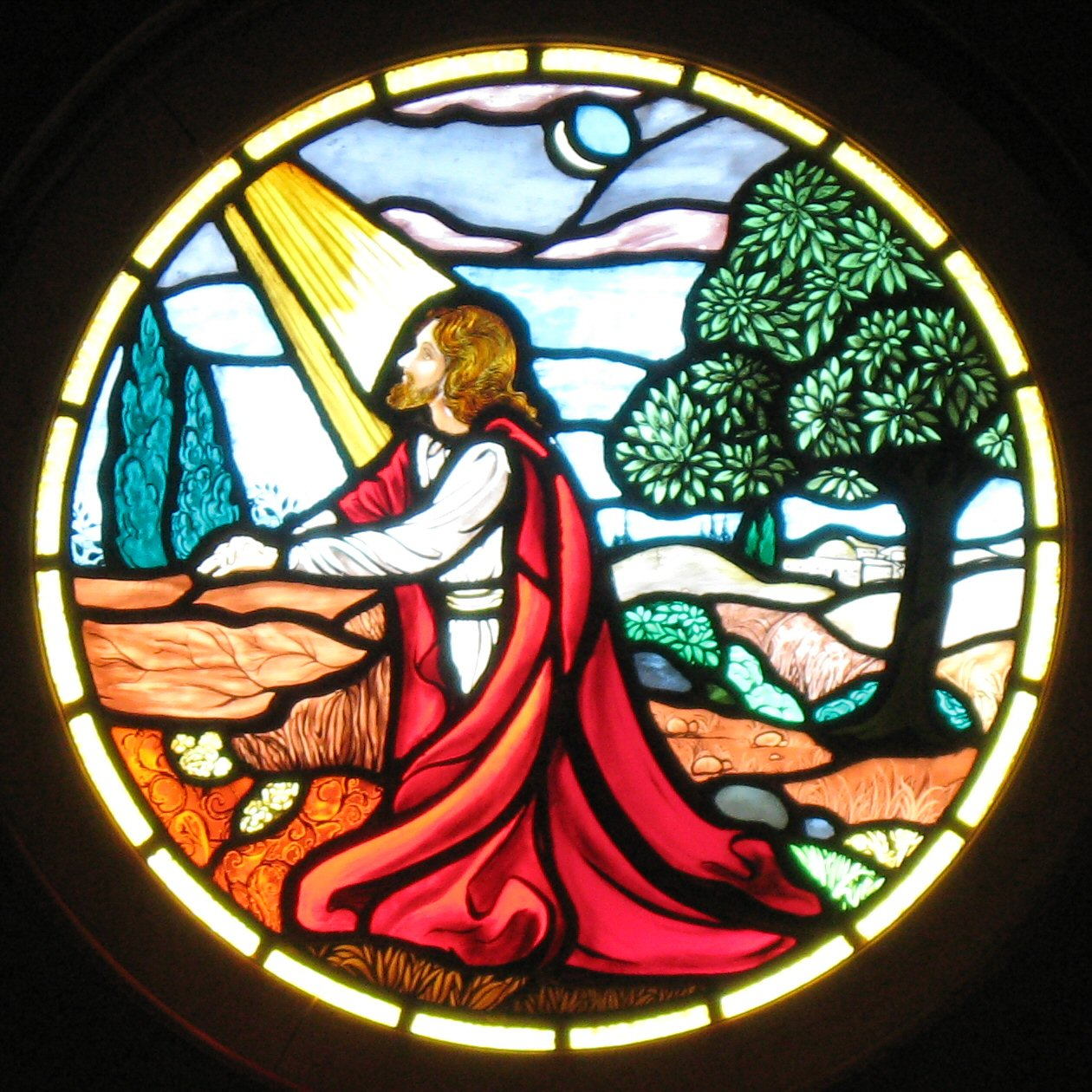 Photo Of Jesus Window By Ray L Winstead